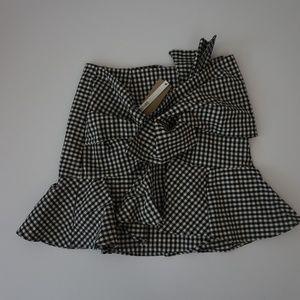 Do + Be B/W Gingham Print Skirt NWOT Size M